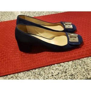 Prada womens 2 inch suede heels.